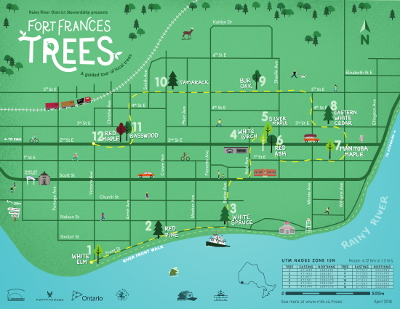 Fort Frances Trees Map Preview